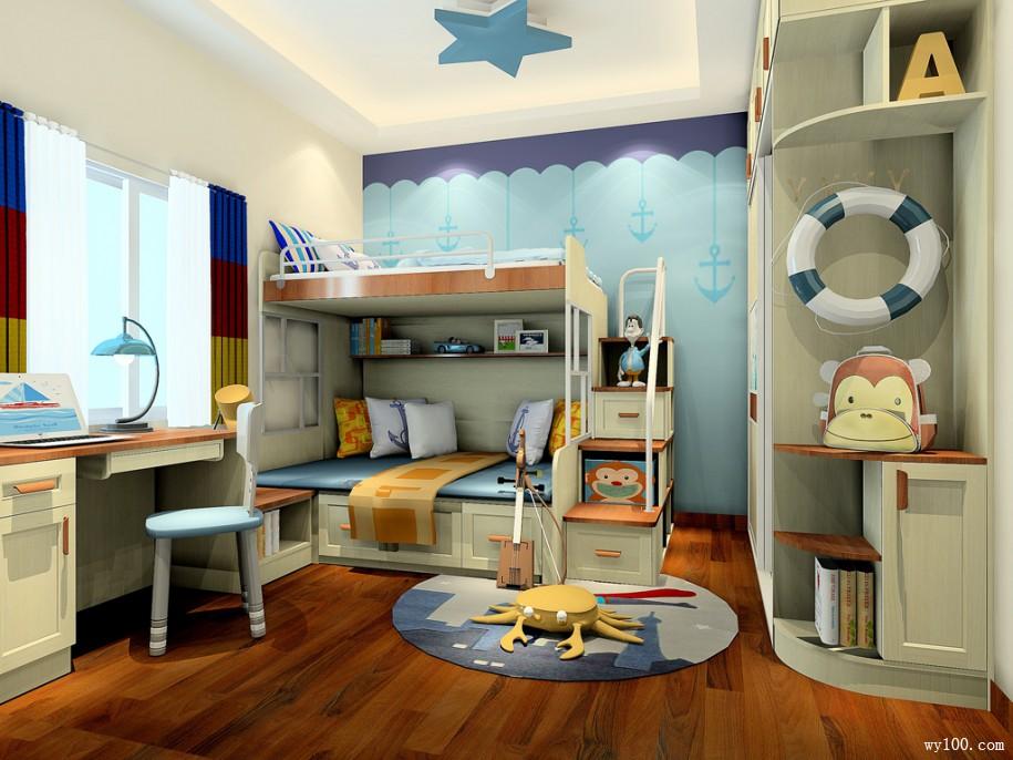 简易儿童房装修就是不一样的装修风格
