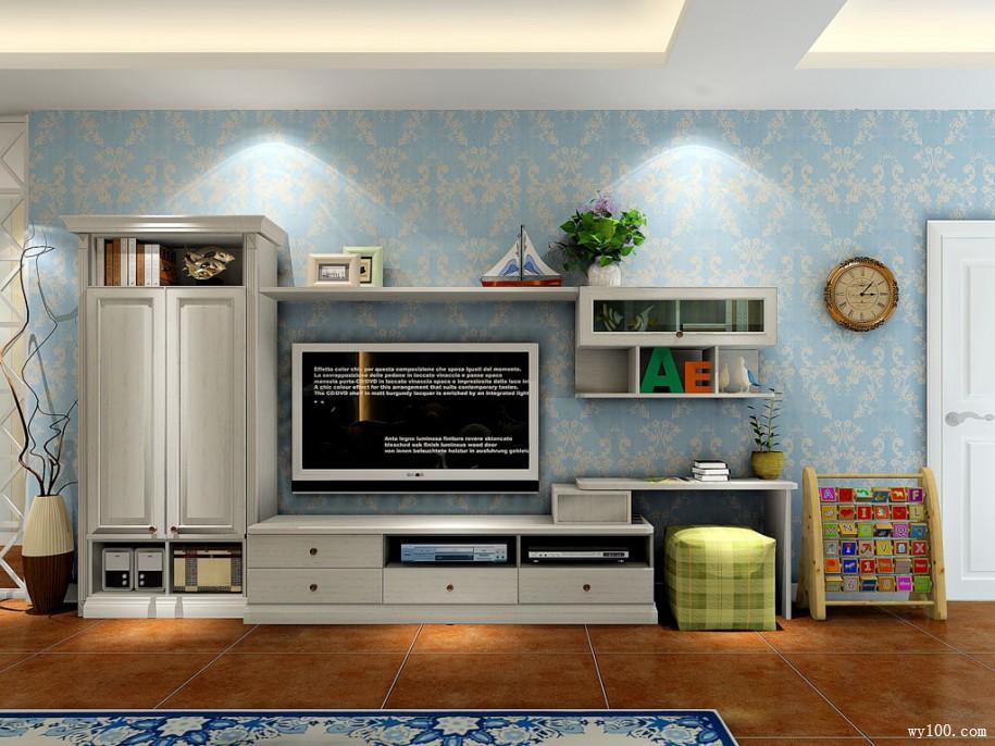 美式家具电视柜的整体介绍图片