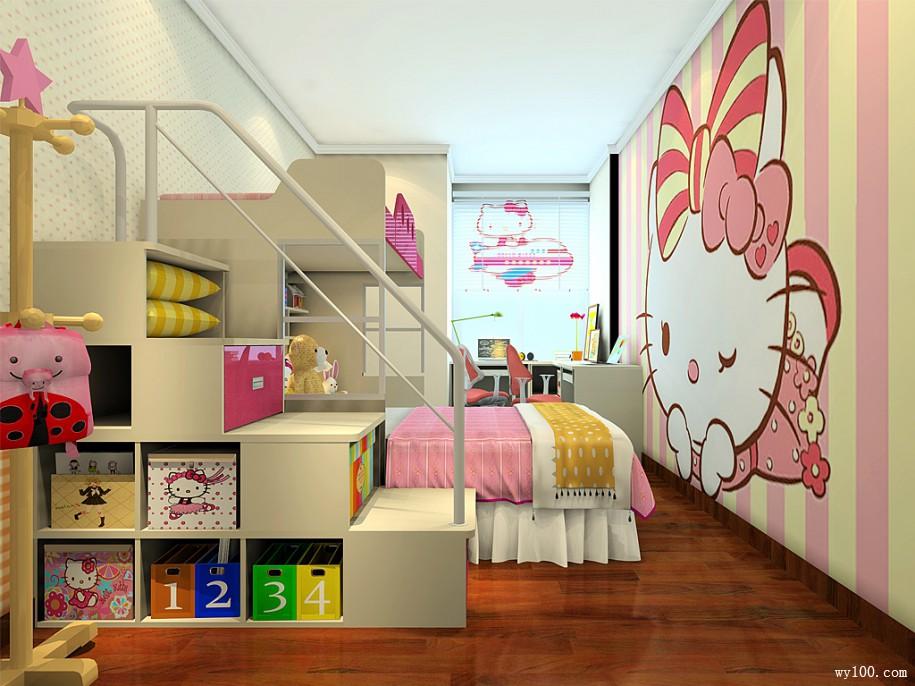 创意儿童房间内的墙画也是颇有特色图片