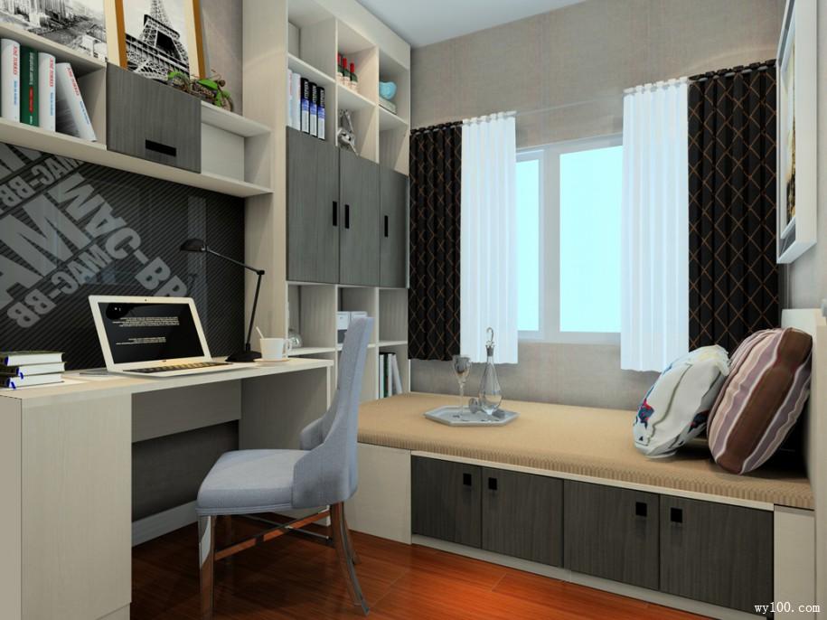 """书房榻榻米设计,让你爱上另一个""""家"""""""