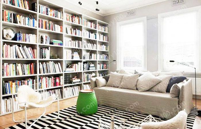 客厅书架设计-维意定制