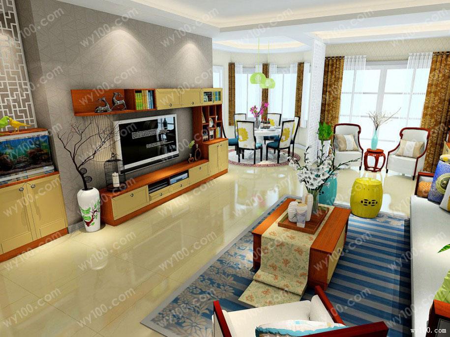 合适的挂式电视柜尺寸可以美观房间