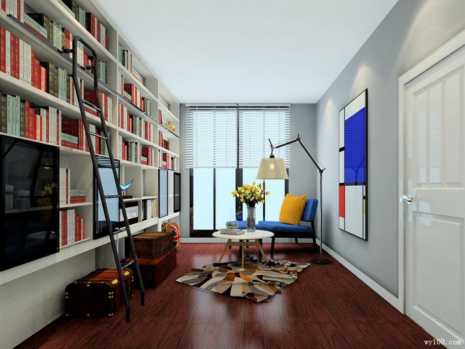 有没有想过准备一个客厅简易书架呢