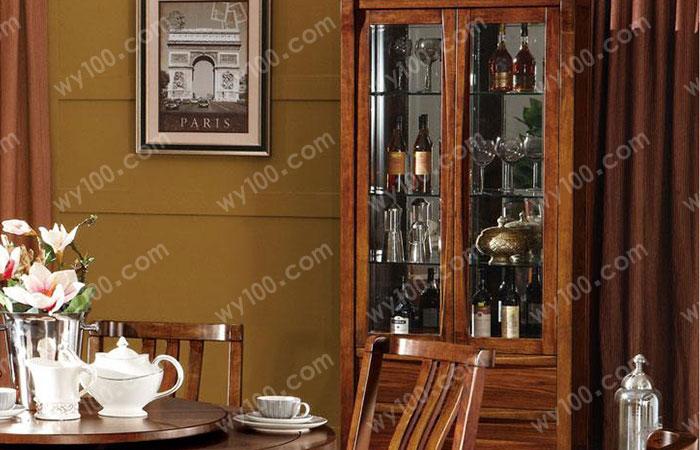 实木中式酒柜设计尺寸与装修效果