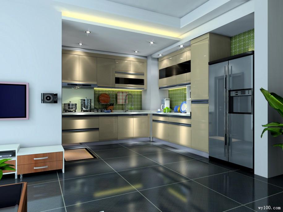 这么选择开放性厨房u型橱柜