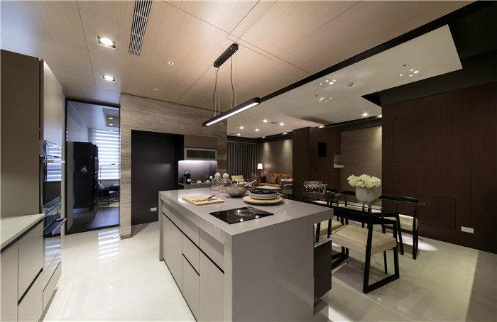 现代简约厨房配色方案--维意定制网上商城