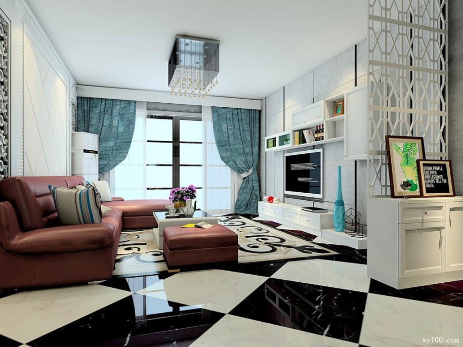 既低调又奢华的客厅装修黑白搭配