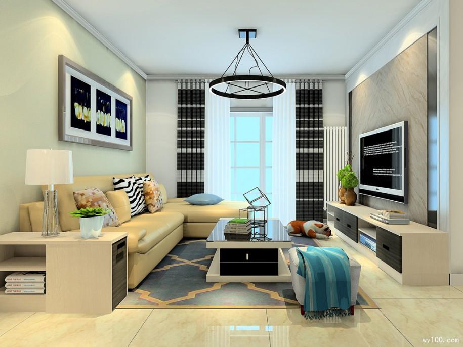 客厅无飘窗房屋设计,该怎么设计?