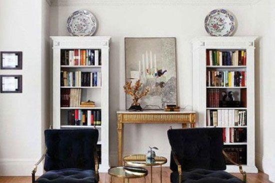现代简易书架搭配技巧--维意定制家具网上商城