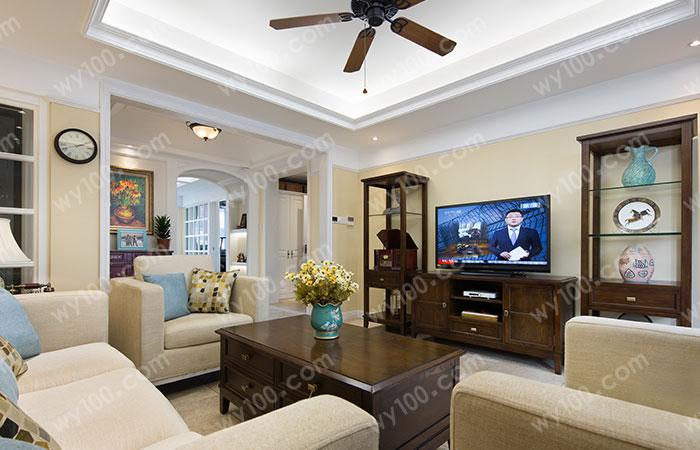 7米大客厅沙发摆放--维意定制家具网上商城