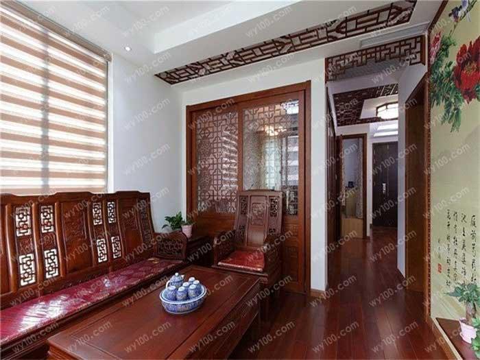 中式风格玄关设计要点 - 维意定制家具网上商城