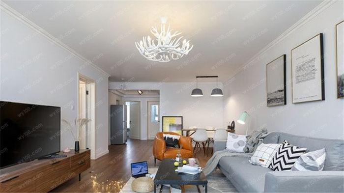 120平北欧风格三室两厅案例 - 维意定制家具网上商城