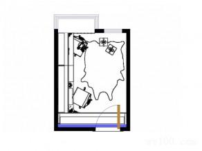 双工作台书房 6平蓝调采光好_维意定制家具商城
