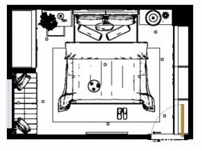 错落空间卧房效果图 13�O深度定制_维意定制家具商城