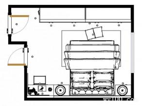 黑白卧房效果图 16�O经典强收纳_维意定制家具商城