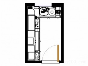 美式厨房效果图 L型橱柜超强收纳_维意定制家具商城