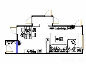 自然简约客餐厅效果图 38平给聚餐一个理由_维意定制家具商城