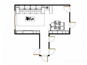 美式客餐厅效果图 43�O新古典元素_维意定制家具商城