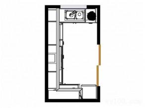 6平欧式简约实用型厨房_维意定制家具商城