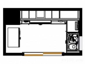 欧式田园厨房 5平绿叶风调_维意定制家具商城