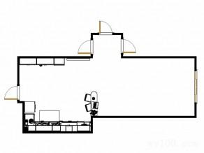 厨房装修效果图 17�O清新素雅大容量储物_维意定制家具商城