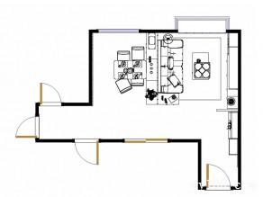 客餐厅一体装修效果图 43�O给人舒畅好心情_维意定制家具商城