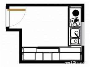 古典L型厨房 复古砖混搭_维意定制家具商城