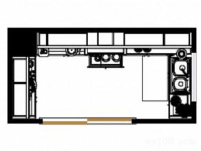 厨房装修效果图 9�O体现主人高雅的品味_维意定制家具商城
