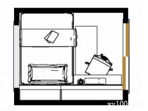 现代简约书房效果图 蓝调打造经典_维意定制家具商城