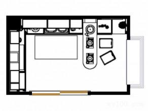 清新休闲厨房效果图_维意定制家具商城