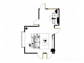 简约时尚客餐厅效果图 34平感性生活_维意定制家具商城