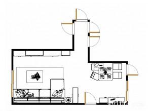 现代田园客餐厅效果图 美式优雅_维意定制家具商城