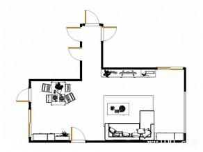 田园风客餐厅效果图 35平简朴自然_维意定制家具商城