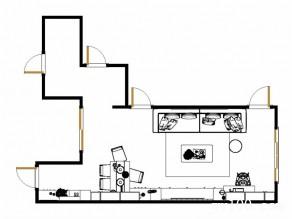 浪漫客餐厅效果图 32平简约趣味_维意定制家具商城