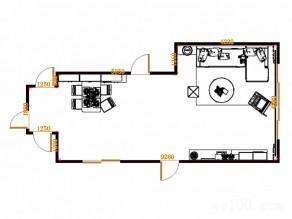 小清新客餐厅效果图 30平田园创意_维意定制家具商城