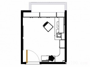 东南亚风格书房 7�O空间简约利用_维意定制家具商城