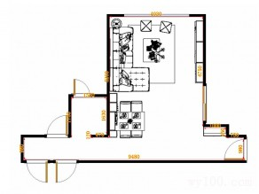 白色客餐厅效果图 25平年轻风调_维意定制家具商城