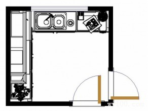 简欧L型小厨房 低调优雅_维意定制家具商城