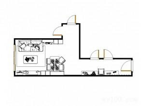 一体式客餐厅效果图_维意定制家具商城