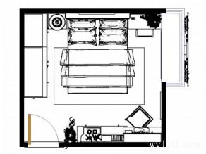 红木卧室效果图 12�O白领最爱_维意定制家具商城