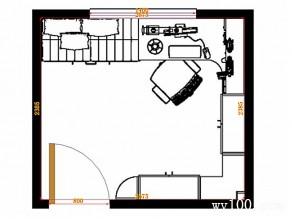 小户型书房效果图 6�O超大扩容转角位尽利用_维意定制家具商城