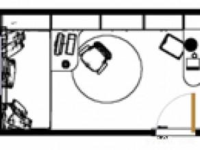 田园式书房效果图 11平宁静雅致收纳型_维意定制家具商城