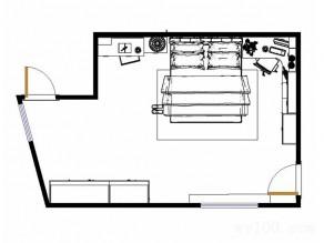 田园风卧室效果图 31�O绿色背景墙清新自然_维意定制家具商城