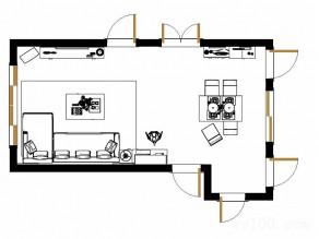 北欧风客餐厅效果图 22�O温馨浪漫小户型特别推荐_维意定制家具商城