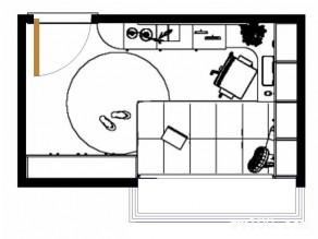 收纳书房效果图 8�O多功能小小户型大收纳_维意定制家具商城