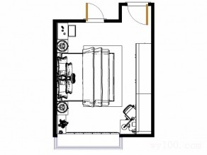 欧式卧室效果图 15�O现代典雅美梦栖息地_维意定制家具商城