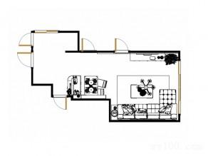 欧式典雅客餐厅 转角皮质沙发不失时尚气质_维意定制家具商城