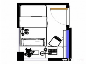小清新书房效果图 5�O假期宅家静阅读_维意定制家具商城