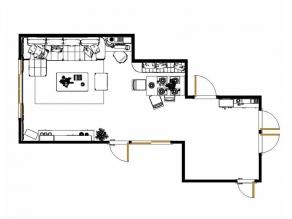 客餐厅隔断效果图 为冬日注入活力_维意定制家具商城