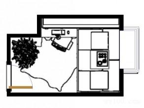 现代简约书房效果图 7�O榻榻米设计_维意定制家具商城